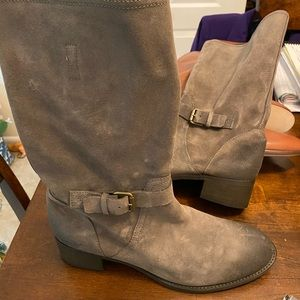 Grey suede leather boots from Jcrew